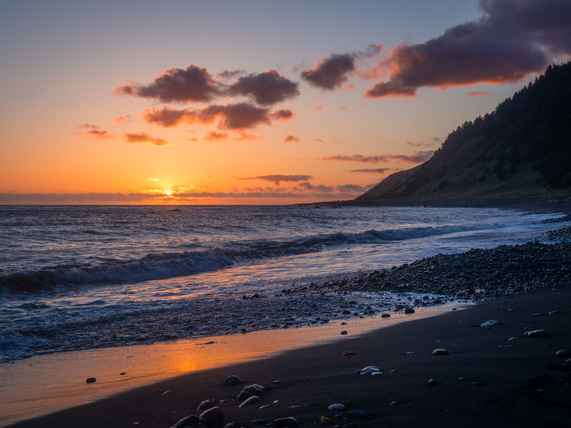 Sunset over the Lost Coast