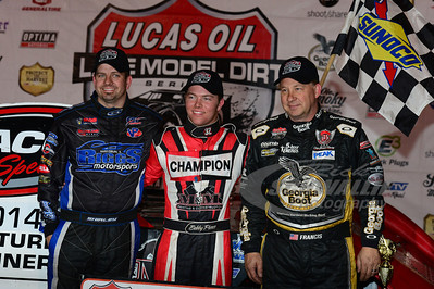 Victory Lane with Brian Shirley, Bobby Pierce and Steve Francis
