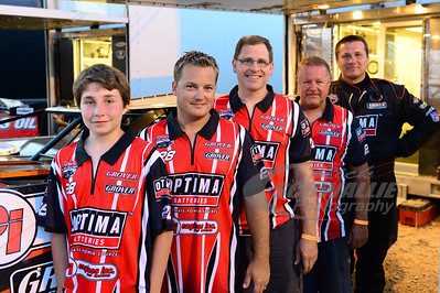 Eddie Carrier, Jr. and his Optima Batteries crew members.