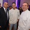 Zubair Popal, Pasty Chef Serge Torres, Chef Gerard Pangaud, Malmaison Restaurant, part of the opens in Georgetown.  October 15, 2013.  Photo by Ben Droz.