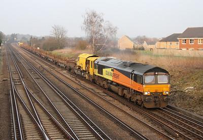 66849 Worting Junction 11/03/14 6Y42 Hoo Junction to Eastleigh