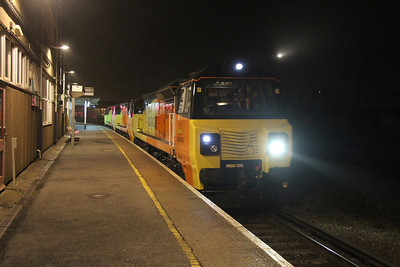 70803 Eastleigh 14/03/14 heading for the depot with 70804 and 70802 having arrived with 6Z30 from Westbury