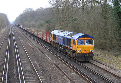 66719 Old Basing 10/03/14 6Z80 Tonbridge to Southampton Western Docks