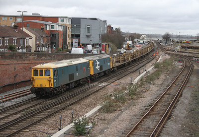 73201 Eastleigh 02/03/14 on the rear of 6G19 Clapham Junction to Eastleigh
