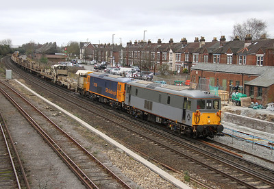 73107 Eastleigh 02/03/14 6G19 Clapham Junction to Eastleigh with 73136 (73207 and 73201 on the rear)