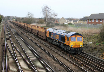 66710 Worting Junction 19/03/14 6X80 Mossend to Southampton
