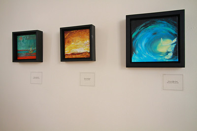 Art Gallery in Tucker Student Center featuring works by Teresa Prater.