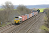 22 March 2014 :: 66532 is seen passing Cholsey with a Southampton to Lawley Street 'liner