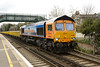 26 March 2014 :: MSC colours are on 66709 as it passes through Wandsworth Road with 6E40 from Grain to Ferme park