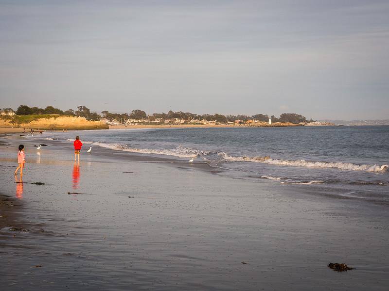 Running beside the waves