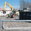 140311 Niagara Produce JOED VIERA/STAFF PHOTOGRAPHER-East Amherst, NY- Construction workers demolish the old Niagara Produce building on Tuesday, Mar. 11th, 2014.