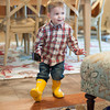 140328 FM Walk JOED VIERA/STAFF PHOTOGRAPHER-Lockport, NY-Mason Phipps dances in his favorite boots Mar.28, 2014.