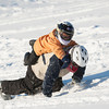 140303 3A Ent JOED VIERA/STAFF PHOTOGRAPHER-Lockport, NY- Michael Reese carries his brother Anthony Reese up a hill after sledding at the Lockport Country Club  on Monday, Mar. 3rd, 2014.