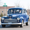 140331 3A Ent JOED VIERA/STAFF PHOTOGRAPHER-Lockport, NY-A 1940's era Ford  Super Deluxe 8 drives down Day Road. Mar. 31, 2014.