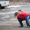 140310 Catch JOED VIERA/STAFF PHOTOGRAPHER-Wilson, NY- Wilson High School freshman Andrew Francioli  plays catch with his friend on Monday, Mar. 10th, 2014.