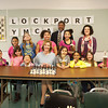 140324 CHESS JOED VIERA/STAFF PHOTOGRAPHER-Lockport, NY- The Golden Knights Chess club poses with Mayor Anne McCaffrey at the YMCA on Mar.24, 2014.