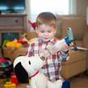 140328 FM Walk JOED VIERA/STAFF PHOTOGRAPHER-Lockport, NY-Mason Phipps treats his snoopy toy with his inhaler Mar.28, 2014.