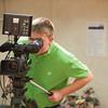 140314 CSPAN Kid JOED VIERA/STAFF PHOTOGRAPHER-Lockport, NY-Michael Pyskaty looks through a camera at the LCTV Studio on Friday, Mar. 14th, 2014.
