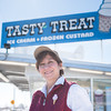 140306 Tasty Treats JOED VIERA/STAFF PHOTOGRAPHER-Lockport, NY-Nanette Frey owner of Tasty Treat stands in front of the ice cream stand on Thursday, Mar. 6th, 2014.