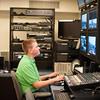 140314 CSPAN Kid JOED VIERA/STAFF PHOTOGRAPHER-Lockport, NY-Michael Pyskaty Works in the control room at the LCTV Studio on Friday, Mar. 14th, 2014.