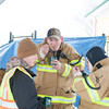 140302 Polar Swim JOED VIERA/STAFF PHOTOGRAPHER-Olcott, NY-Jake Allen, Jeremy Allen, Brandon Sandolfini and Scott Matheis of Barker's Fire Department enjoy some chili before the Polar Bear Swim in Olcott Beach on Sunday March 2nd, 2014.