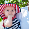 140525 Parade JOED VIERA/STAFF PHOTOGRAPHER-Lockport, NY-Eden Braun (7 months) watches her first Memorial day parade  May 25, 2014.