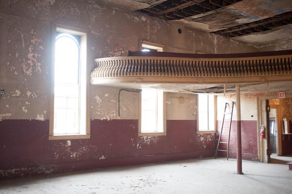 140325 Opera JOED VIERA/STAFF PHOTOGRAPHER-Medina, NY-The Bent's Opera House theater before restorations begin Mar.28, 2014.