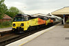 30 May 2014 :: The going away shot of 0Z70 with 70808 and 70805 at Basingstoke