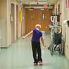 140425 Skyla JOED VIERA/STAFF PHOTOGRAPHER-Buffalo, NY-Skyla Dennis dances in the Roswell Cancer Institute hallway after winnig a game of Monopoly . April 23, 2014.