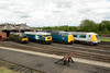 24 My 2014 ::  A line up of the locomotives at the Didcot Railway Centre diesel gala.   D6700, 47292, 55002 and 41001