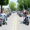 140525 Parade JOED VIERA/STAFF PHOTOGRAPHER-Lockport, NY-Members of the Hogs Hero Foundation ride thier motorcycles down East Ave during the Memorial Day parade May 25, 2014.