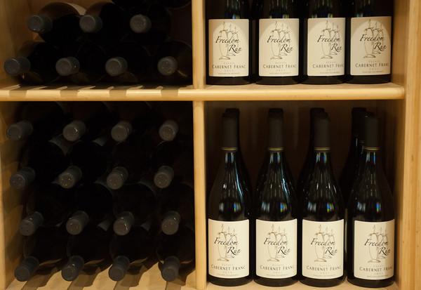 140319 Lockhouse JOED VIERA/STAFF PHOTOGRAPHER-Lockport, NY-Wine Bottles at Freedom Run Winery on Mar. 4, 2014.