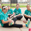 140425 Girls on a Run JOED VIERA/STAFF PHOTOGRAPHER-Pendleton, NY- Makenzie Weber 11 leads other <br /> Starpoint 6th graders in a strech before they train for a 5km event. April 25, 2014.