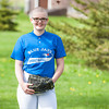 140507 bald for bucks JOED VIERA/STAFF PHOTOGRAPHER-Hartland, NY-12 year old Rachel Hurtgam readies for a softball game after raising $1500 and shaving her head for Bald for Bucks. May 7, 2014