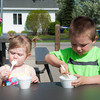 140511 Enterprise JOED VIERA/STAFF PHOTOGRAPHER-Wrights Corners, NY-Jessie(1) and Xander(4) Smith enjoy some Ice Cream at Whats Your Scoop on Wheeler Road. . May 12, 2014