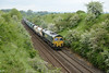 20 May 2014 :: 66605 is passing Upton Scudamore with 6O49 from Theale to Wool