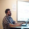 140510 Game maker JOED VIERA/STAFF PHOTOGRAPHER-Lockport, NY-University at Buffalo graduate student Devin Wilson teaches a class on game devolopment at the Lockport Public Library. May 10, 2014