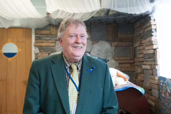140501 Foster Care JOED VIERA/STAFF PHOTOGRAPHER-Lockport, NY-Niagara County Director of Social Services Burt Marshall shows off the department's foster visitation room. April 30, 2014