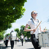 140525 Parade JOED VIERA/STAFF PHOTOGRAPHER-Lockport, NY-A drummer marches in the Memorial day parade  May 25, 2014.