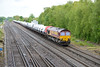 22 May 2014 :: 66155 is seen at Worting working 6M66, a train of Ford transits from Southampton to Garston