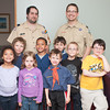 140506 Cub scouts JOED VIERA/STAFF PHOTOGRAPHER-Lockport, NY-Cub scouts visit the US&J newsroom. 1st row: Briana Henry, Dakota Jarrell, Austin Constable and Darell Jarrell. 2nd row: Christopher Georgia, Vernon Henry, Mathew Constable, Benjamin Olson. 3rd row: Steven Constable and Benjamin Georgia. May 6, 2014