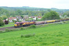 20 May 2014 :: 66031 is seen passing Hanging Langford with 6V41 from Eastleigh to Westbury