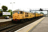 30 May 2014 :: Network Rail test train 3Z06 from Derby to Eastleigh with 31105 in charge is seen passing through Platform 4 at Basingstoke