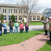 140501 National Prayer Day JOED VIERA/STAFF PHOTOGRAPHER-Middleport, NY-Father Dan Fawls leads the flock in prayer at the memorial park. April 30, 2014