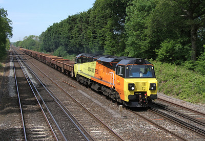 70804 Old Basing 21/05/14 6Y41 Eastleigh to Hoo Junction