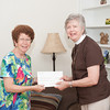 140514 Kahler JOED VIERA/STAFF PHOTOGRAPHER-Lockport, NY-Fran Kahler accepts a check from Deacon Joanne Frake. May 14, 2014