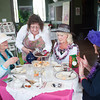 140514 Enterprise JOED VIERA/STAFF PHOTOGRAPHER-Lockport, NY-Cindy Jex serves tea to Susan Ciappa, Diane Fermoile-McAvoy, Carla Marie Crane at a tea party celebrating thier retirement at the Old City Hall Tea Party. May 14, 2014