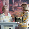 140510 Keys to the Locks JOED VIERA/STAFF PHOTOGRAPHER-Lockport, NY-Rosemary Bernard accepts the Key to the Locks Award from Mayor Anne McCaffrey at the Lockport Discovery Center. May 10, 2014