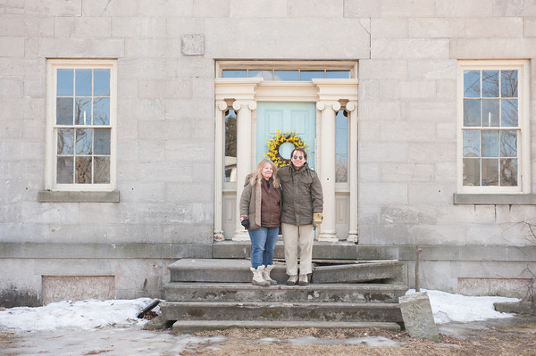 140321 Mansion JOED VIERA/STAFF PHOTOGRAPHER-Lockport, NY-Cindy and Glen Gerspach in front of the Mount Providence Mansion on Mar. 21, 2014.