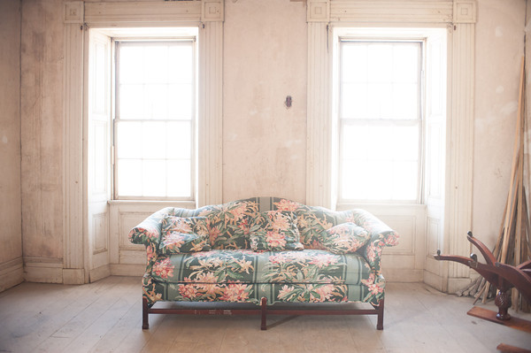 140321 Mansion JOED VIERA/STAFF PHOTOGRAPHER-Lockport, NY-A couch in the Mount Providence Mansion on Mar. 21, 2014.